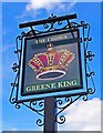SU6098 : The Crown (3) - sign, Thame Road, Stadhampton by P L Chadwick