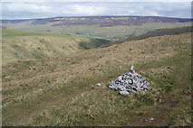 SD9170 : Small cairn by the Monk's Road by Bill Boaden