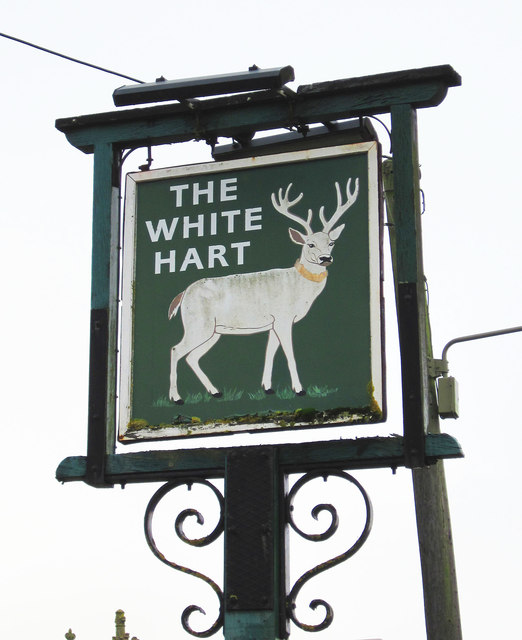 The White Hart (3) - sign, Burford Road, Minster Lovell