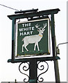 SP3111 : The White Hart (3) - sign, Burford Road, Minster Lovell by P L Chadwick