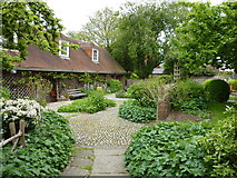 TQ4109 : The garden of Anne of Cleves' House, Southover, Lewes by pam fray
