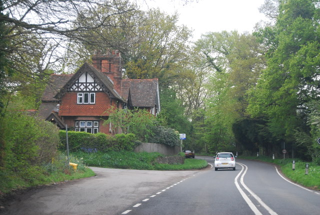 Large house by the A264