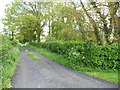 SJ7271 : Private track and public footpath, off the B5082 by Christine Johnstone
