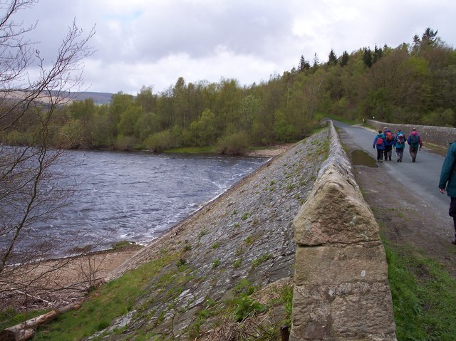 The causeway on Stocks Reservoir
