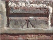 TQ8455 : Cut Bench Mark, Dirty Habit, Hollingbourne by dave-harris
