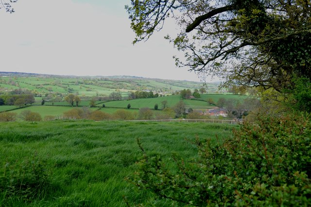 A North Westerly view from the top of Cacklehill, Snelston