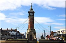 TF5663 : The clock tower in Skegness by Steve Daniels