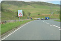 NY5503 : Lay by and phone box A6 in Borrowdale by John Firth