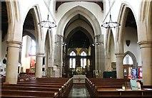 SK2168 : Interior, All Saints' church, Bakewell by J.Hannan-Briggs
