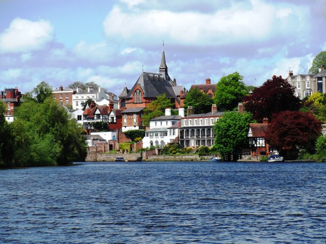 St. Paul's, Chester from the River Dee