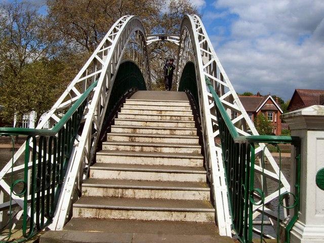 Suspension Bridge over River Great Ouse