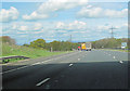 NY4352 : M6 northbound from under Garlands Bridge by John Firth