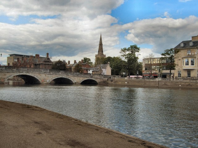 Bedford Town Bridge & St Paul's church