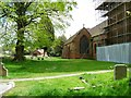 SP1584 : St Giles church and churchyard, north side by Christine Johnstone