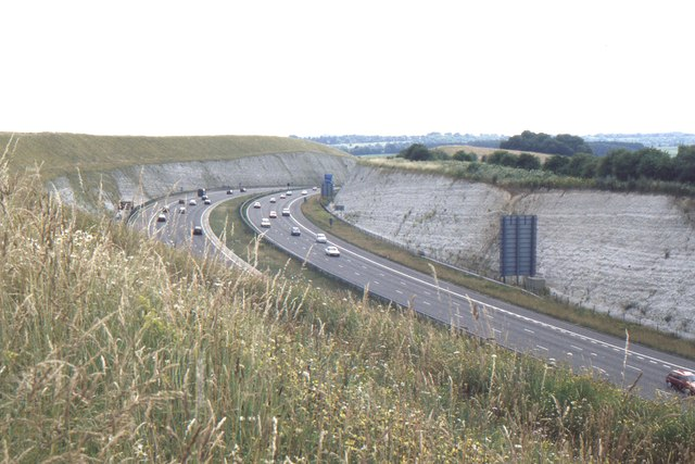 The M3 at Twyford Down
