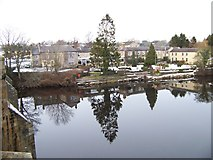 NY9170 : The George Hotel, Chollerford, seen from the bridge over the North Tyne by Elliott Simpson