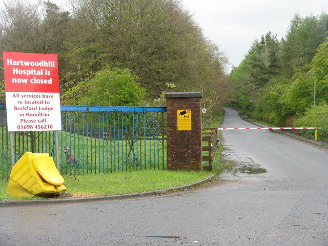 Hartwoodhill Hospital entrance and drive