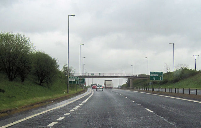 Bridge over A737 approaching Kilbarchan junction