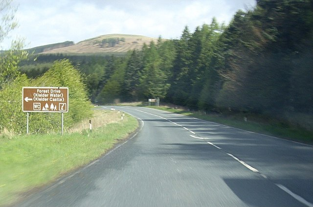 Forest Drive junction on A68 near... © Stanley Howe cc-by ...