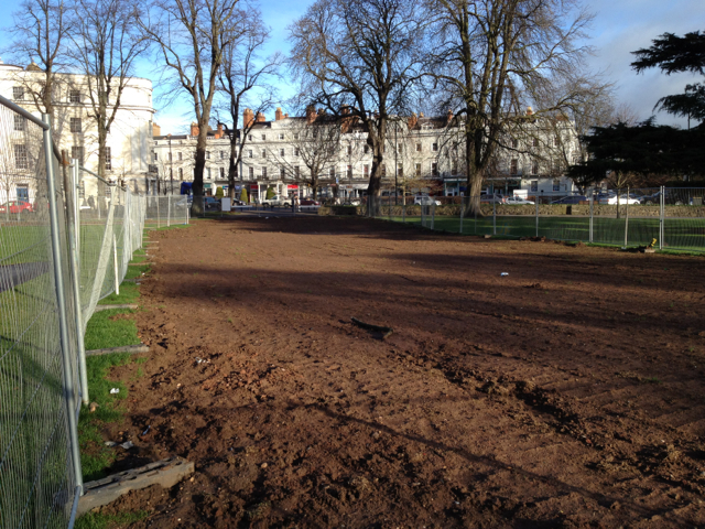 Route of surface water sewer, Pump Room Gardens