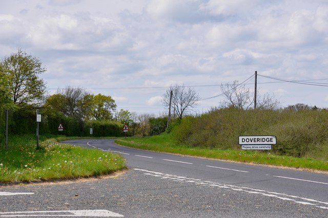 Entering Doveridge on the old Derby Road