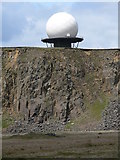 SO5977 : 'The Golf Ball' on Titterstone Clee Hill by Mat Fascione