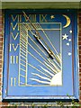 SU6787 : Sundial, west elevation, Nuffield Place, Nuffield, Oxfordshire by Brian Robert Marshall