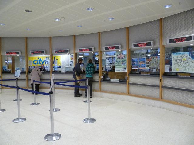 Edinburgh Bus Station ticket counter
