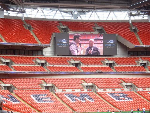 A Wembley Stadium TV screen