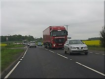SK5232 : Slow going on the A453 by Peter Whatley