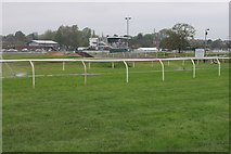 SO8455 : Watering Worcester racecourse by Roger Davies