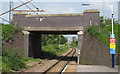 TQ9496 : Station Road bridge over Crouch Valley Line by Roger Jones