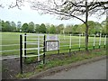 SJ7873 : Entrance to Over Peover playing field by Christine Johnstone