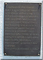 NJ1960 : Plaque on Mayne Memorial by Anne Burgess