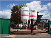 SP2871 : Dry Mortar silos on building site, Kenilworth by John Brightley