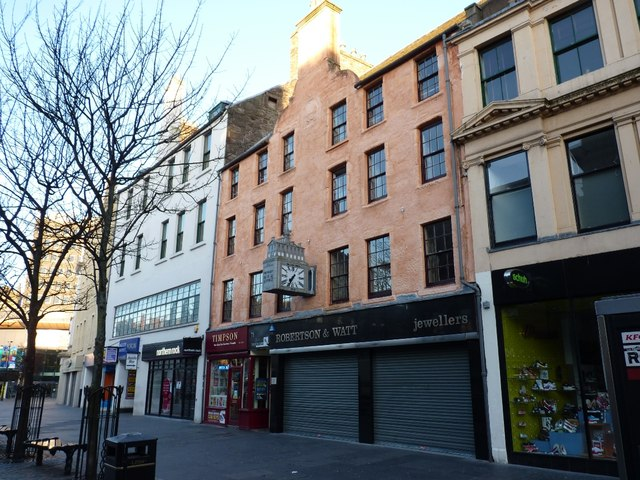 The Tenement (left) and the MacLeod Building (right) – Dundee High Street
