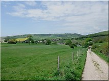 TQ2912 : The South Downs Way, looking west towards Pyecombe by Tim Heaton