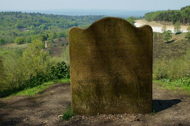 The Sailor's Stone, Hindhead, Surrey