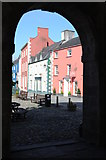 SN7634 : Colourful buildings, Llandovery by Philip Halling