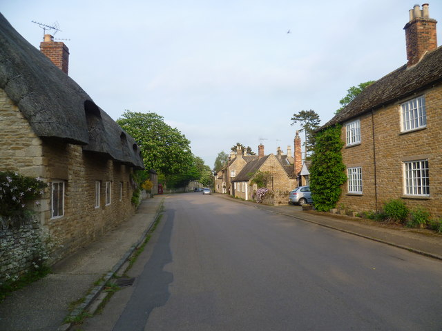 The main street in Fotheringhay
