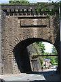SD7505 : Kearsley - Stoneclough Road bridge below station by Dave Bevis