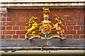 TQ2550 : Royal Coat of Arms on the former White Hart by Ian Capper