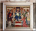 TQ2979 : Westminster Cathedral - Panel by John Salmon