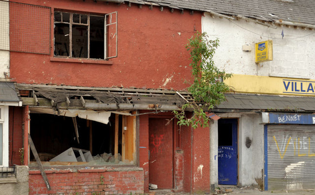 Derelict shops, Belfast (3)
