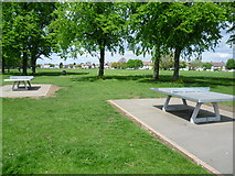 TQ2869 : Table tennis on Figge's Marsh by Marathon