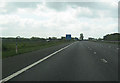 NY3663 : M6 south approaching Todhills Services by John Firth