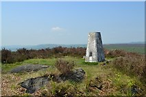 SK2773 : Triangulation point to the north of Birchen Edge by Neil Theasby