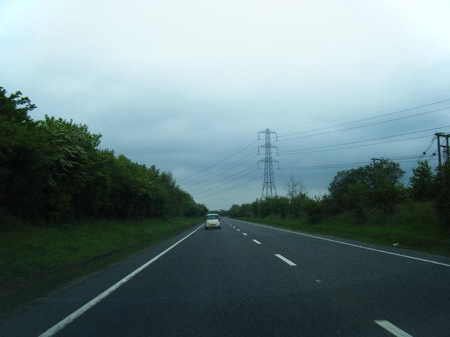 A49 northbound at Harlescott