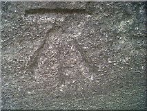 SN4562 : Ordnance Survey Benchmark - Aberaeron, Holy Trinity Church by N Scott
