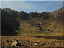 SH6459 : Llyn Idwal and Cwm Idwal by N Chadwick